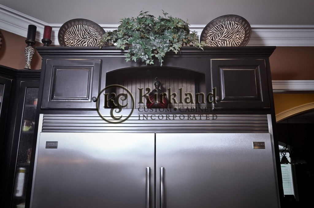 Kitchen cabinets02 poplar wood with black rubbed through - Poplar wood kitchen cabinets ...