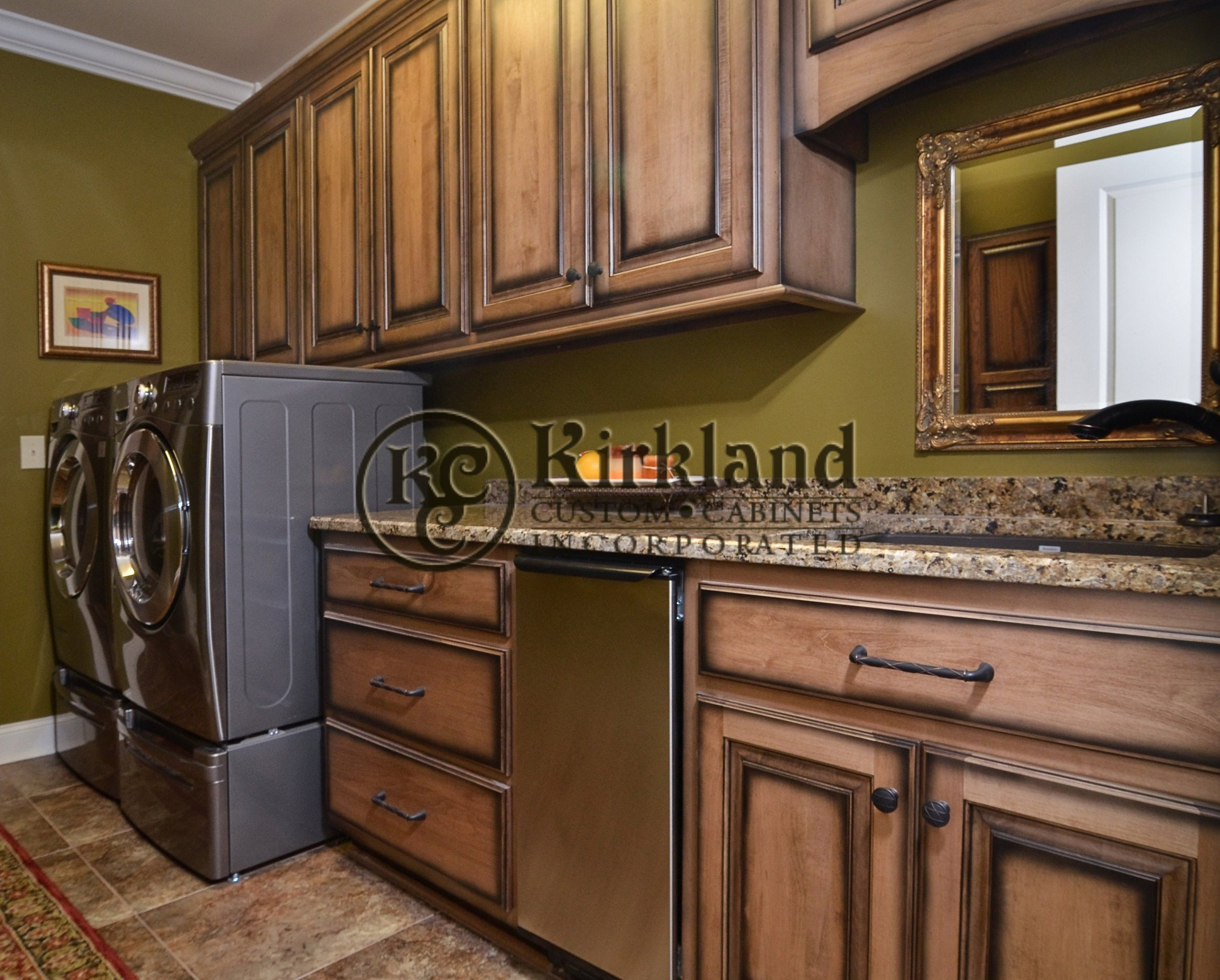 Custom 12 kirkland custom cabinets inc for Black stained cabinets