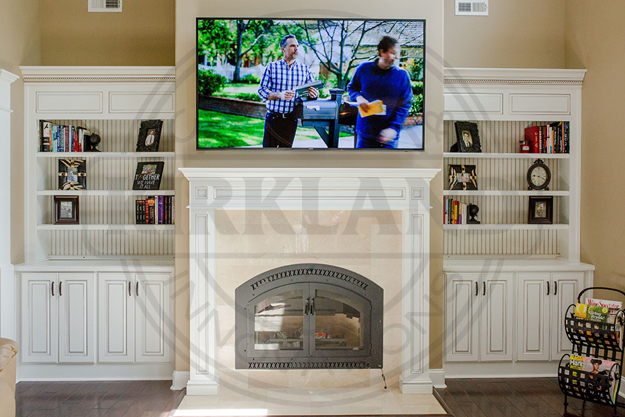 Bookcases with matching custom Fireplace Mantle copy