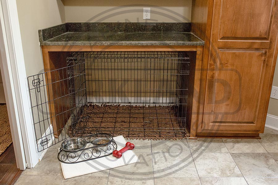 Custom Integrated Dog Kennel Nook copy