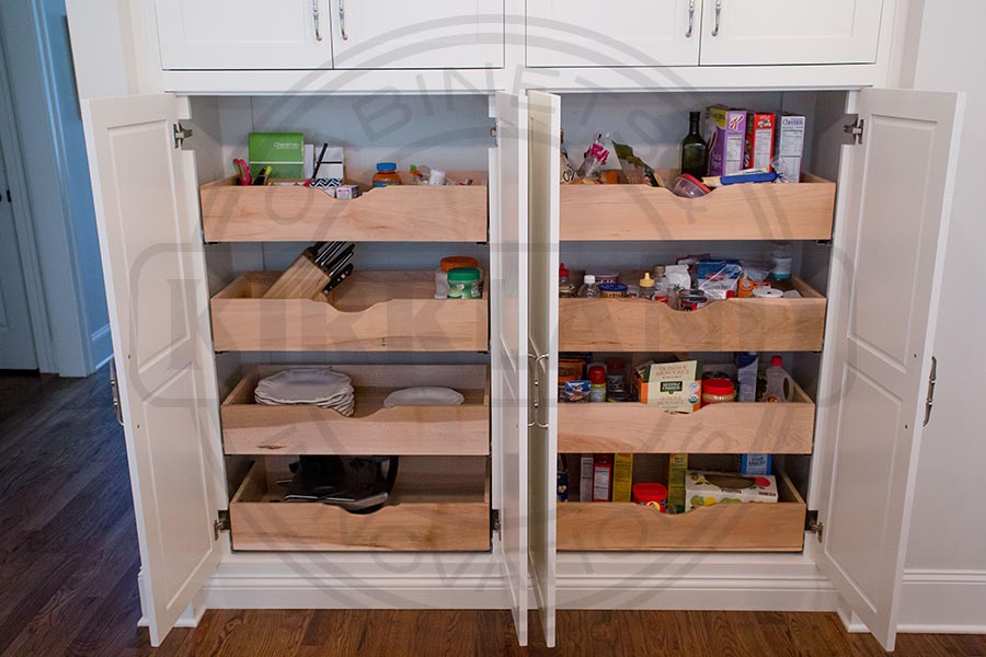 Custom Pullout Storage Systems Double