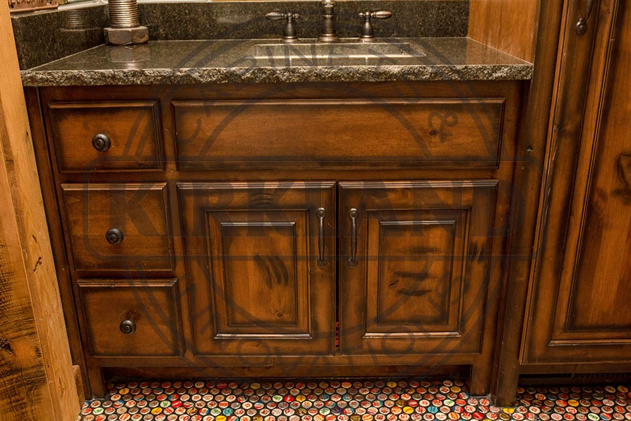 Single Vanity Rustic Stye Distressed