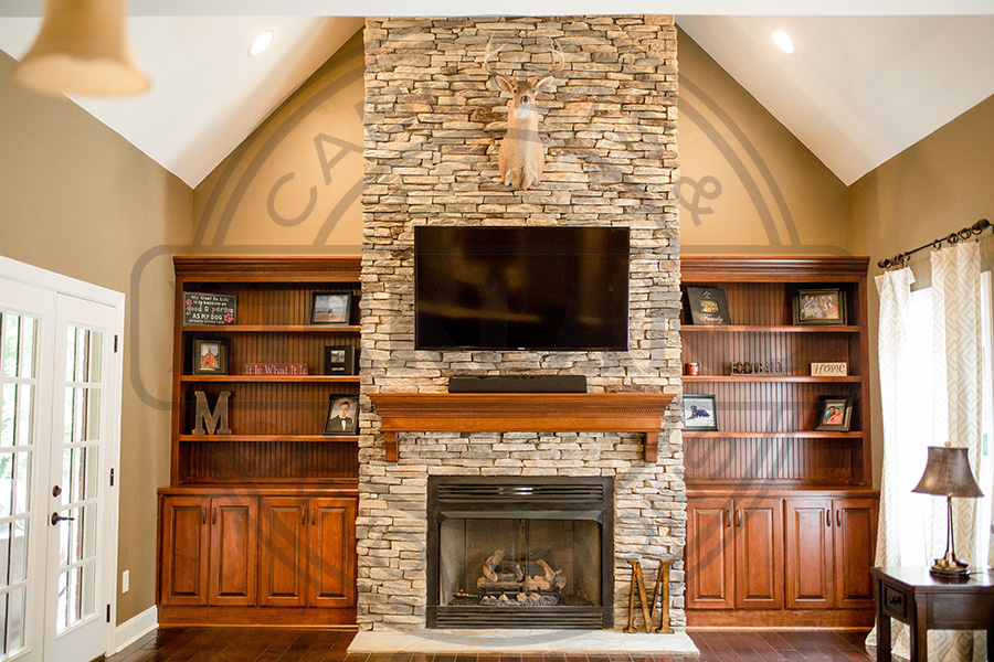Inset Bookcases with Matching Fireplace Mantle copy